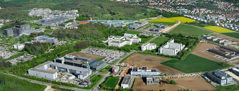 Arial view of Ulm's Science City